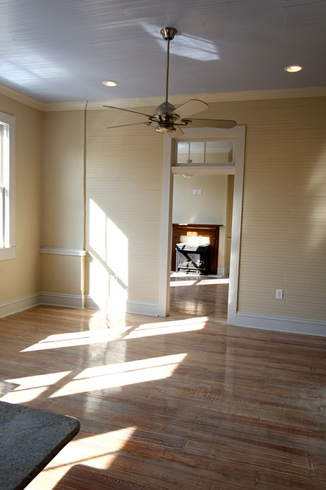 Apartment A Interior and Fireplace Woodville Apartment Rental | Woodville Lofts & Studios, Mississippi, MS