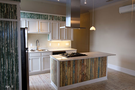 Apartment E Kitchen, Woodville Apartment Rental | Woodville Lofts & Studios, Mississippi, MS