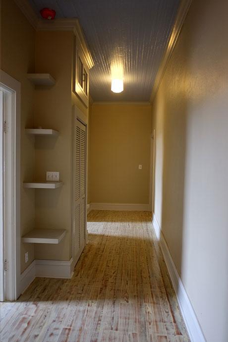 Apartment E Hallway, Woodville Apartment Rental | Woodville Lofts & Studios, Mississippi, MS